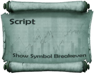 Script for calculating the breakeven of several orders